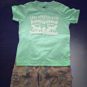Boys shorts and shirt set